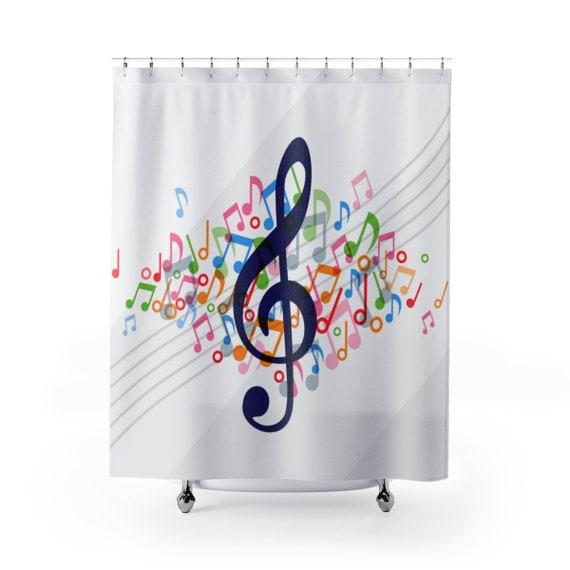 Music Shower Curtain Bathroom Home Decor