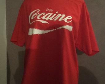 4b2fc170 Cocaine t shirt   Etsy