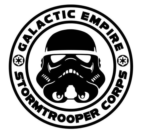 GALACTIC EMPIRE LOGO DECAL STAR WARS VINYL STICKER