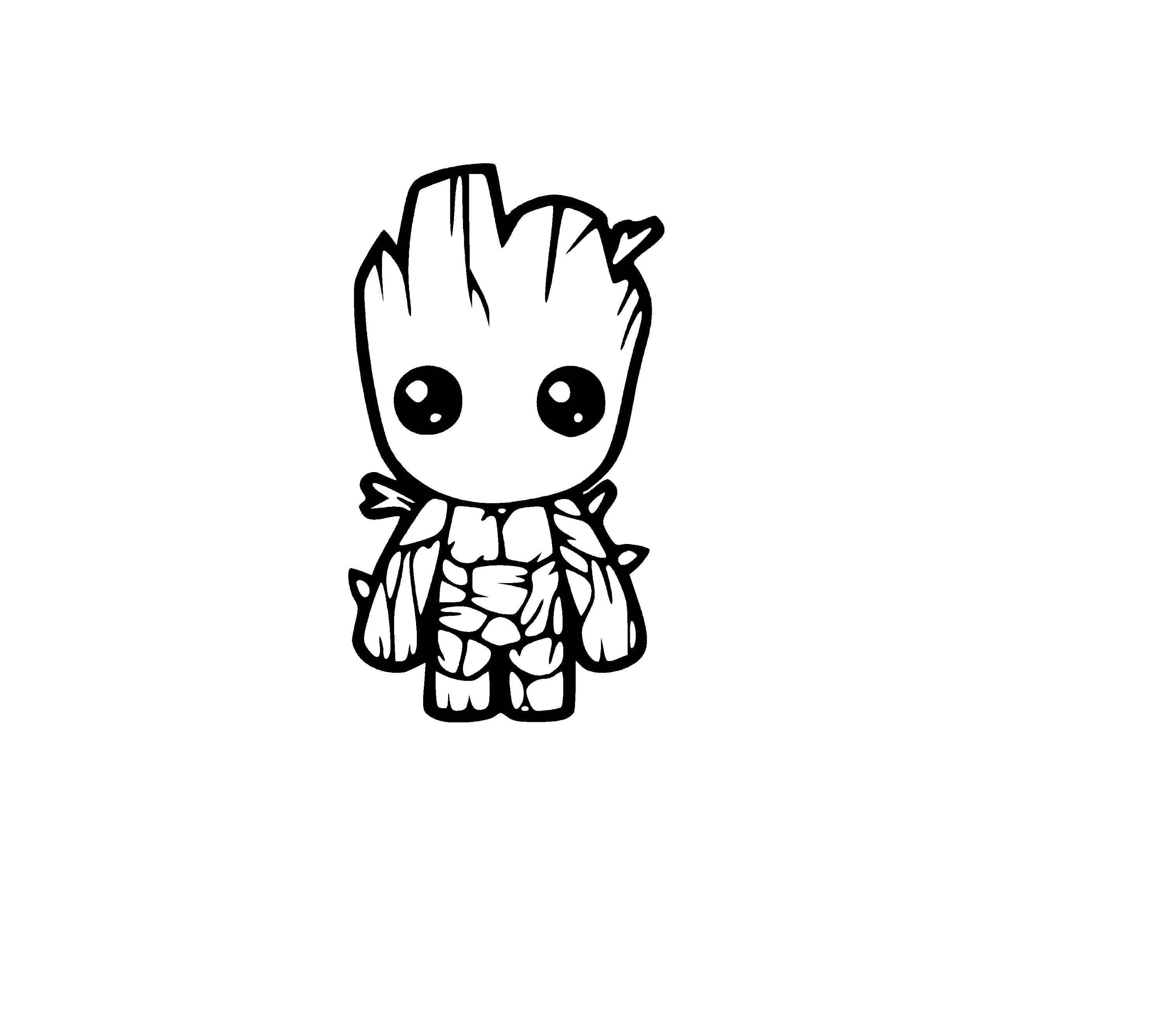 Baby Groot Sticker Decal Decorative Etsy