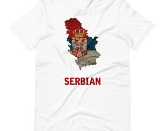 Serbia Flag Short-Sleeve Unisex T-Shirt