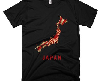 The Japanese Rising Sun T-Shirt (Mens Fitted)