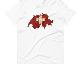 Switzerland Swiss Flag Short-Sleeve Unisex T-Shirt