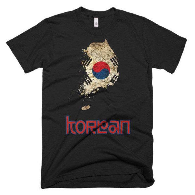The Korea Flag T-Shirt men's fitted image 0