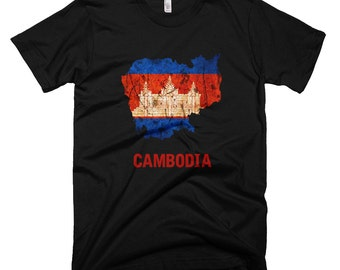 The Cambodia Flag T-Shirt (mens fitted)