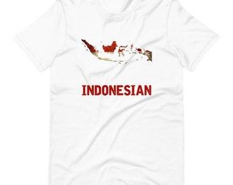 Indonesia Flag Short-Sleeve Unisex T-Shirt