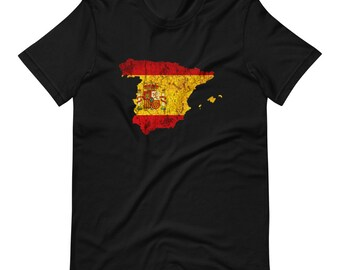 Spain Flag Short-Sleeve Unisex T-Shirt
