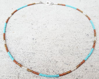 Pure Copper Circle Bead Choker Necklace