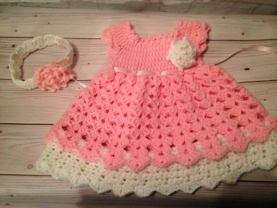 Häkeln Baby Kleid Set Crochet Newborn Kleidung Crochet Etsy