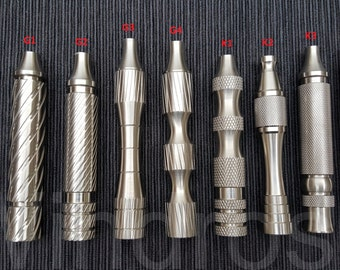 Windrose Safety razor Handles 9 designs to choose from. Made from 303 Stainless Steel