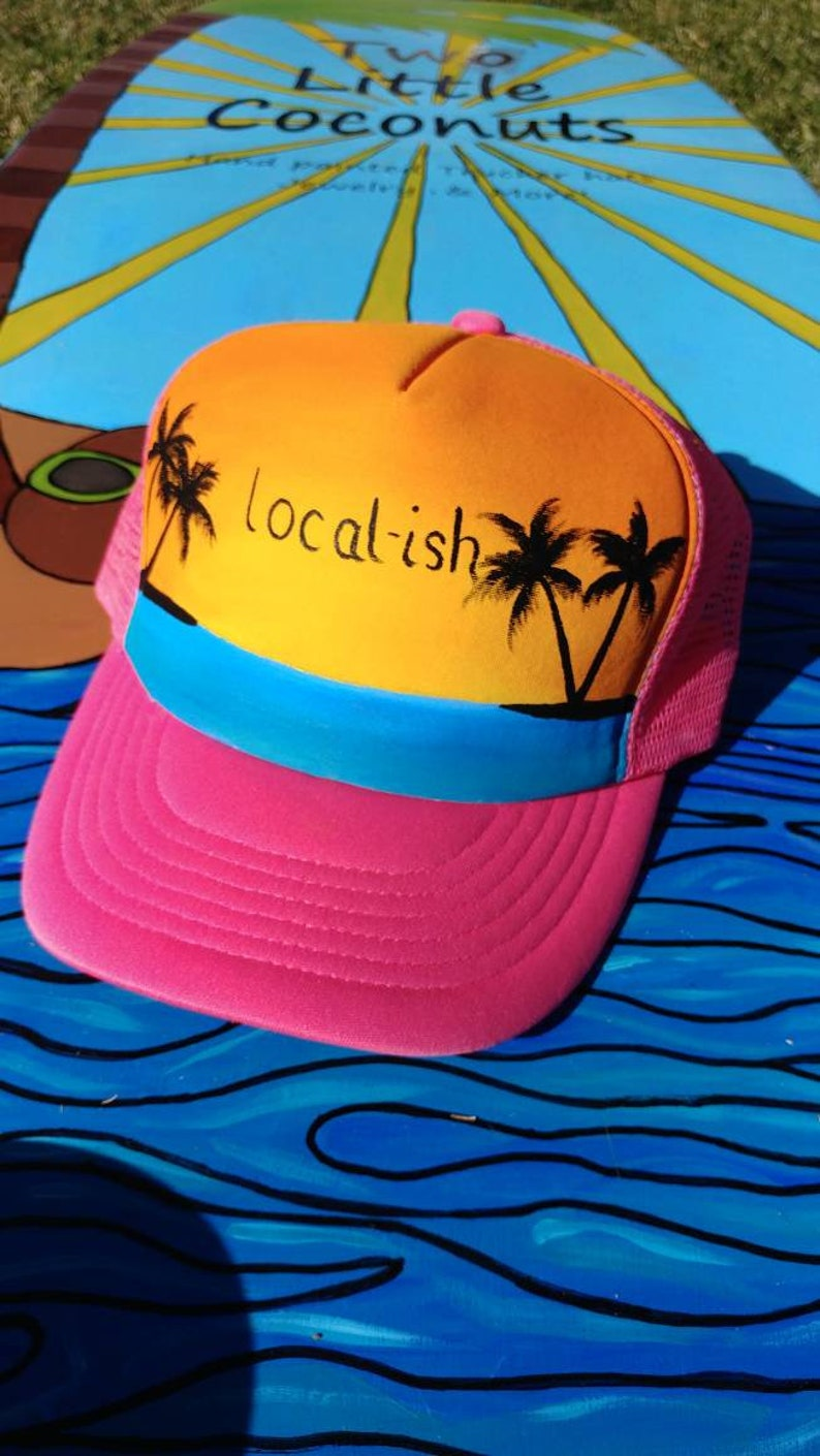 Hot Pink Trucker hat. Hot pink tropical snapback. Local-ish.  416418be9e49