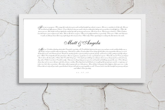 Vows Print Vows Framed Vows Art Wedding Vow Prints Vow Etsy