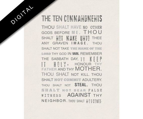 photo about The Ten Commandments Printable identify Printable 10 commandments Artwork, Bible Verse Electronic Down load, Exodus 20 Poster, Scripture, Religous Artwork in direction of Print, Christian Wall Decor, Beige