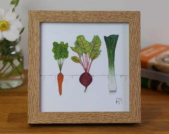 Framed Vegetable Print
