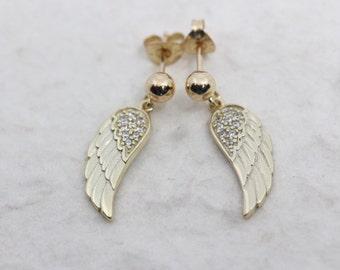 Gold wings earrings. gold jewelry, gold wings post earrings, OR gold wing HOOKS earrings. gold wing earrings jewelry. Gold Wings Jewelry