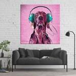 Custom Pet Portrait on Canvas, Dog Pop Art Portrait, Digital Pet Painting, Gift for Dog Lover, Weimaraner Art