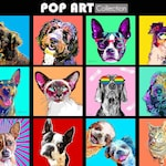 Pet Portrait Digital, Personalized Dog Art, Custom Pet Portrait, Pet Memorial, Pet Loss Gift, Dog Gift, Custom Cat Portrait, Pop Art Pet