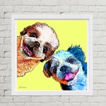 POP Art Pet Portrait, Custom Shih Tzu Art, Personalized Pet Portrait, Gift for Mom, Funny Dogs, Pet Memorial Gift, Pet Loss Gift