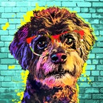 Custom Pet Portrait on Canvas, Custom Dog Art, Digital painting from photograph, Personalized Pop Art, Gift Idea, POP ART, Dog Mom Gift
