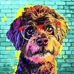 Custom Pet Portrait on Canvas, Custom Dog Art, Digital painting from photograph, Personalized Pop Art, Gift Idea, POP ART, Dog Mom Gift
