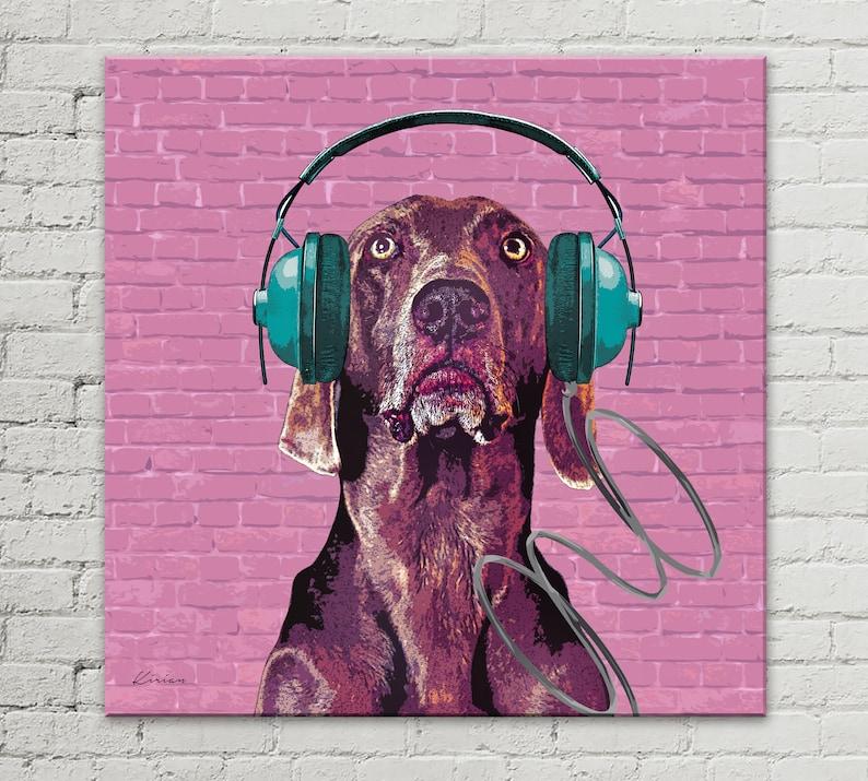 Street Dog Art Custom Pet Portrait from Photo Graffiti Art image 0