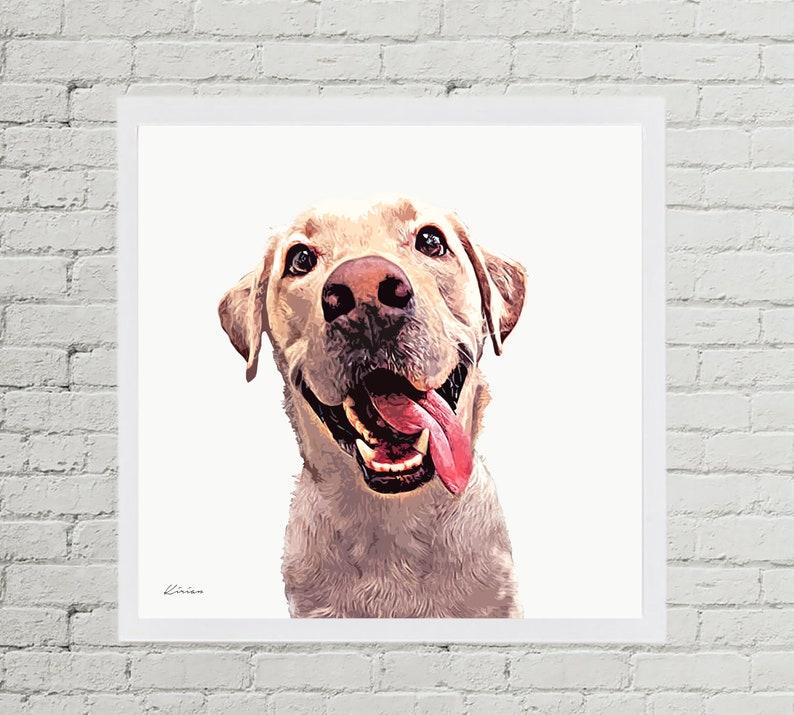 Custom Pet Drawing Pet Portrait Illustration Classic Style image 0