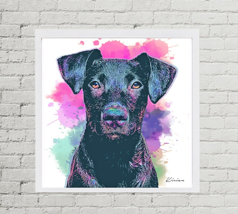 Terrier Watercolor Pet Portrait Chirstmas Gift Idea Gift for image 0