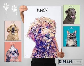 Pet Portrait, Custom Pet Portrait, Pet Memorial, Custom Dog Portrait, Cat Portrait, Portrait from Photo, Pet Remembrance, Dog Mom Gift