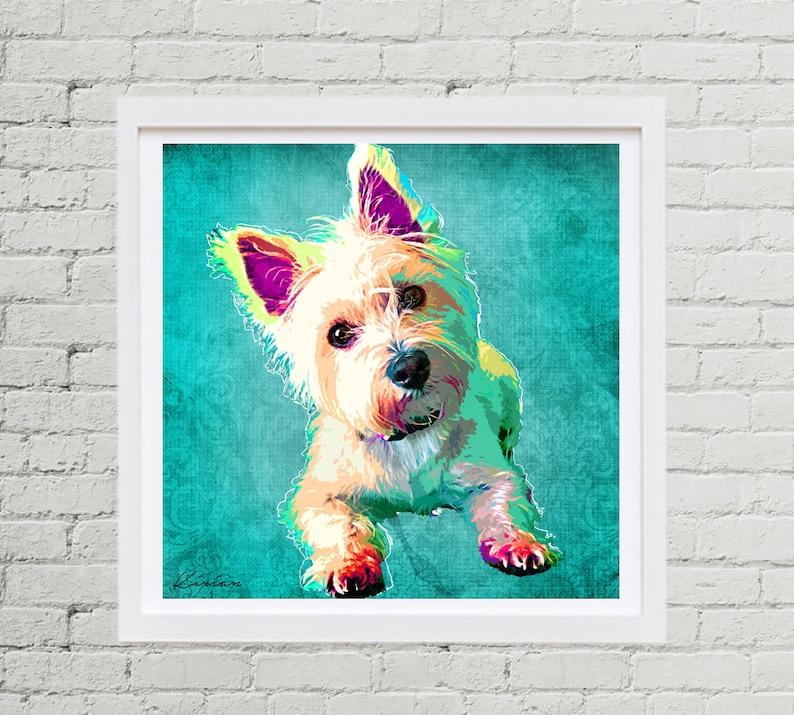 Pet Portrait Custom Dog Pop Art Custom Pet Portrait from image 0