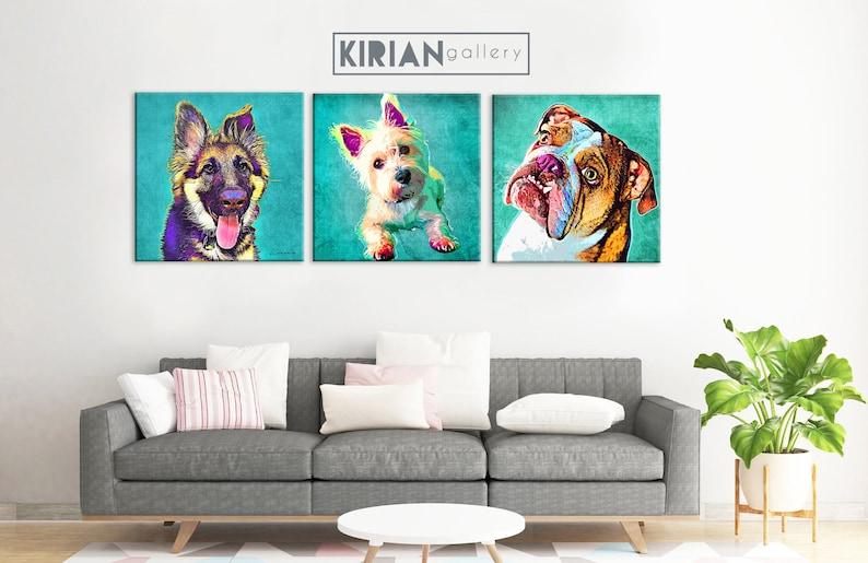 Custom Pet Portrait on Canvas Personalized Pet Painting image 0