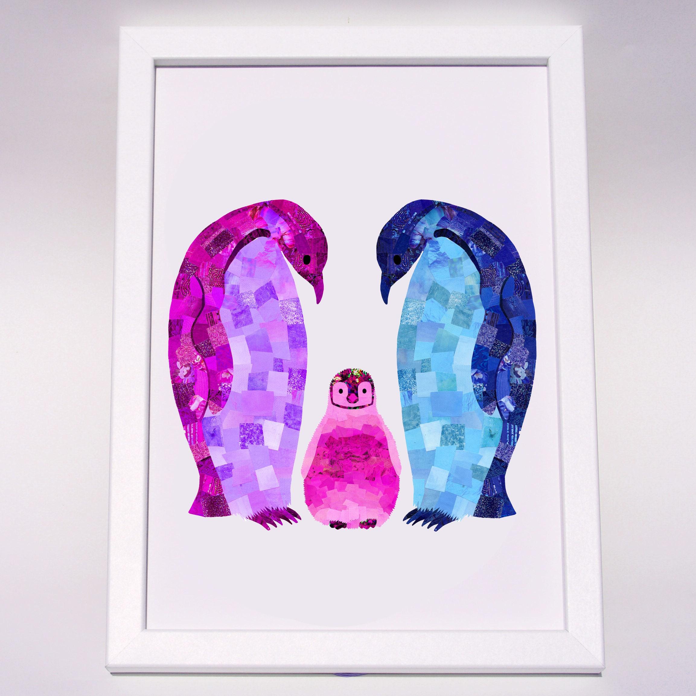 New baby Pinguin Druck Babys erste Weihnachtsgeschenk neues | Etsy