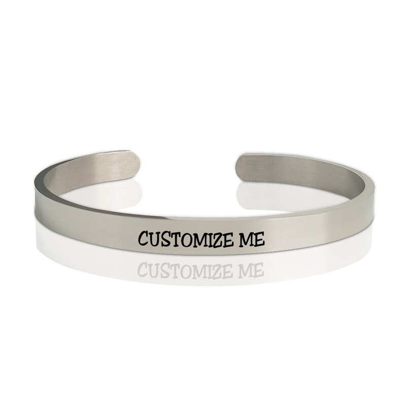 Mantra jewelry Men Woman. Date Personalize a Bracelet for Her with any Message