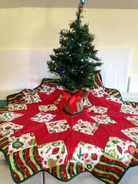 Quilted Christmas Tree Skirt - Quilted Christmas Tree Skirt Etsy