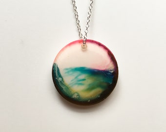 Beach 2 - Resin Artwork Necklace
