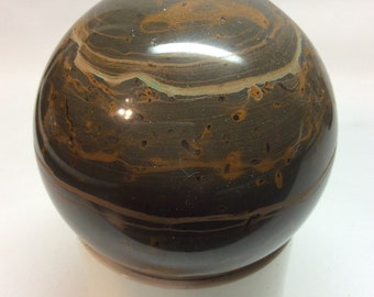 Marble Ball - 3 Inch Brown, Rust, and Tan