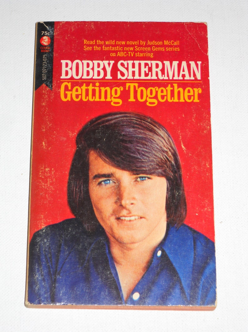 1971 Bobby Sherman Getting Together #1 TV series tie-in novel VG Curtis  Books Judson McCall