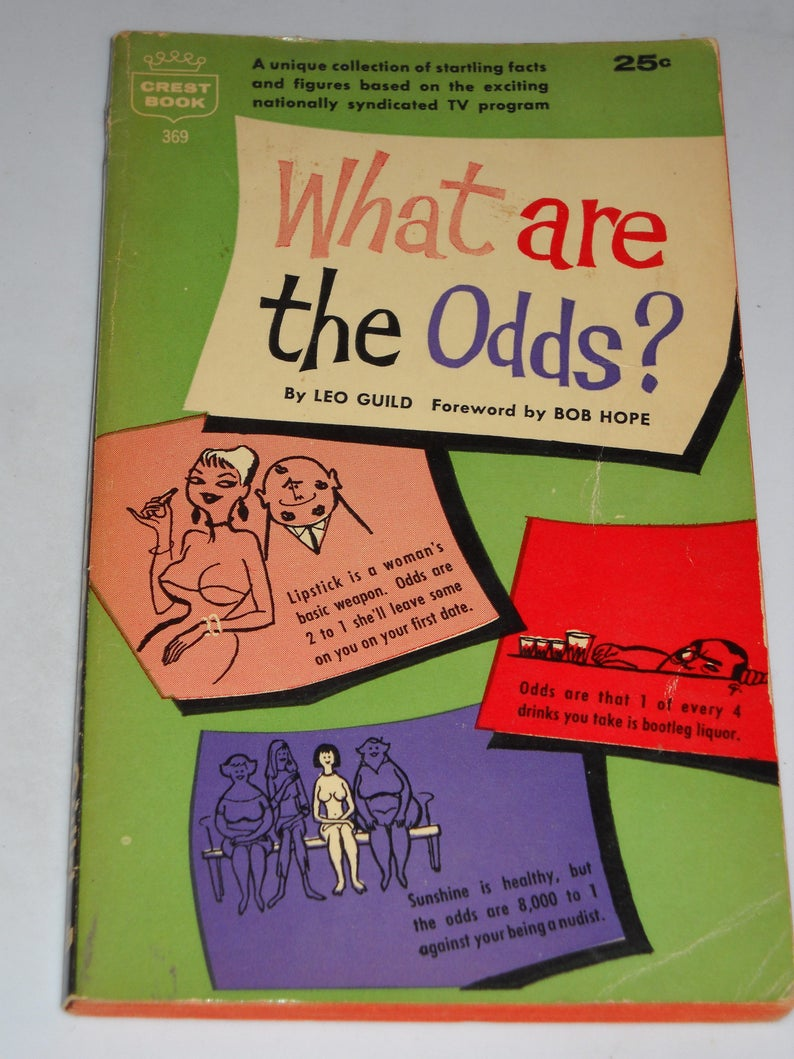 1960 What Are the Odds? TV tie-in series vintage paperback book by Leo  Guild, foreward by Bob Hope