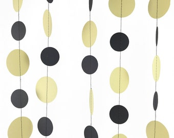 Pale Yellow and Gray Garland - Dark Gray and Yellow Garland, Pastel Yellow and Gray Circle Garland, Babys Nursery Decorations- GC001SmPylw