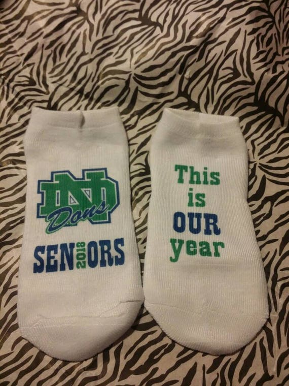 9d4ce80e98fb Seniors 2018 This is OUR Year Cheer Socks Lucky Socks