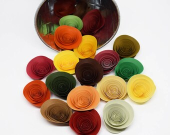 Thanksgiving Table Paper Flowers 20 Loose Flowers Fall Decor Autumn Decorations Fall Flowers Thanksgiving Table Decorations Harvest Decor