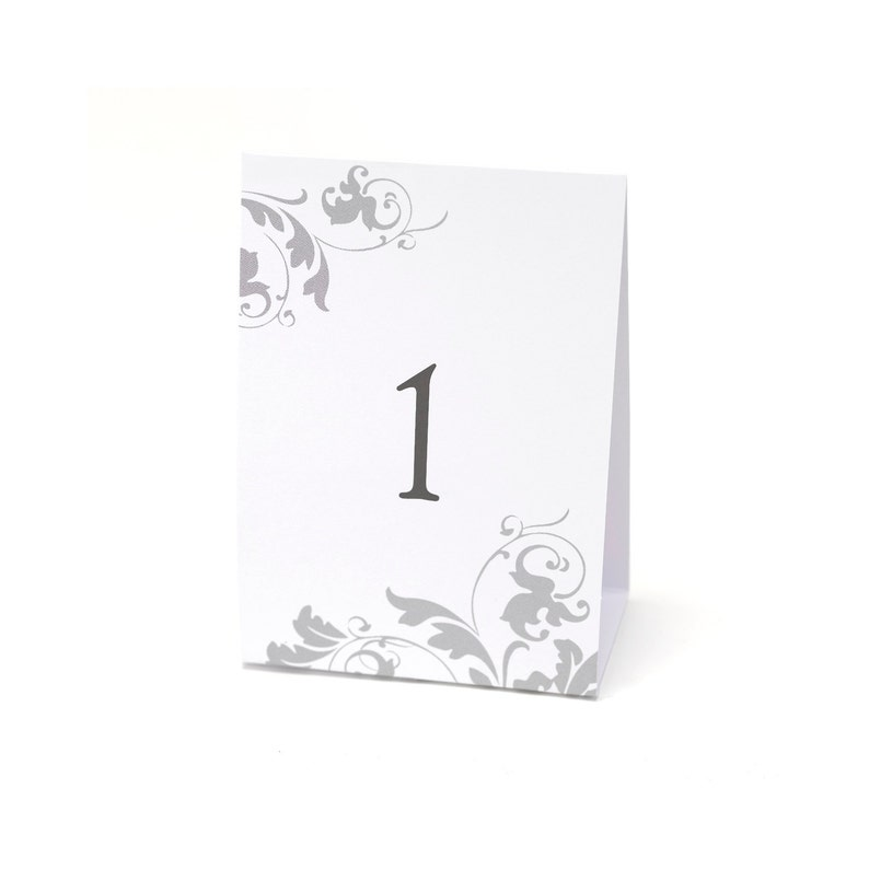 Tent Style Table Numbers For Wedding Reception Or Other image 0