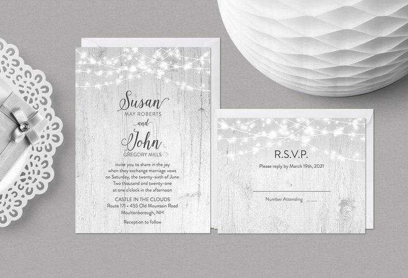 Rustic Wedding Invitations  DIY Printable  Aisle Time image 0