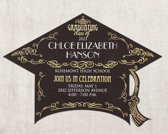 Graduation Invitations, Personalized Graduation Invitation, Photo Graduation Invites, See Photos For Color Options And Order Instructions