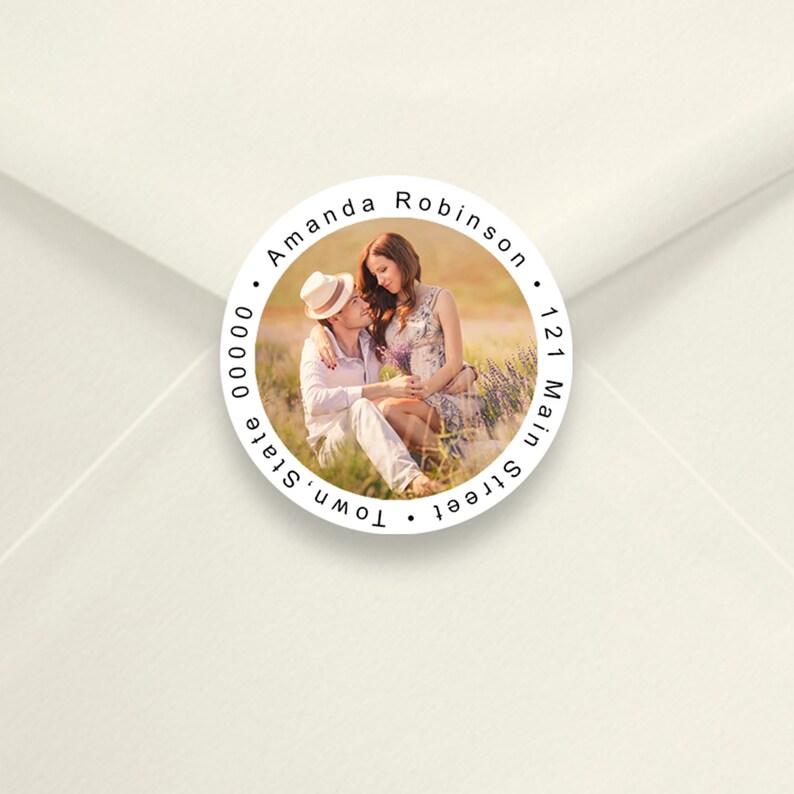 Personalized Return Address Labels 2 Inch Round Return image 0