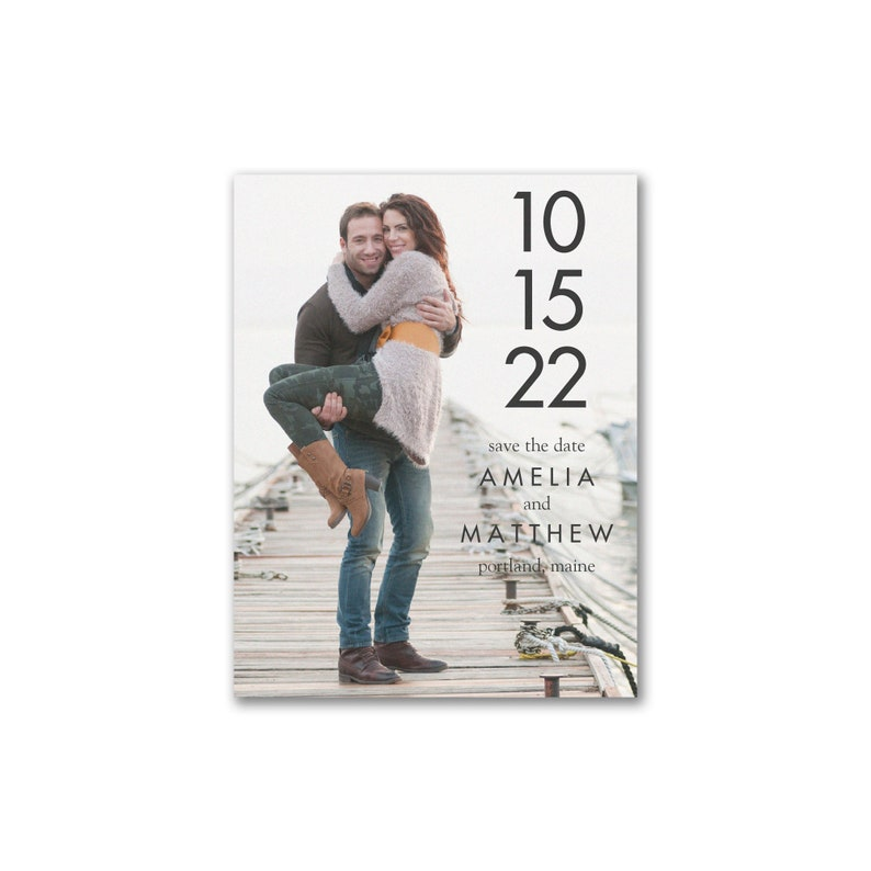 Simple Save The Date Cards With Photo image 0