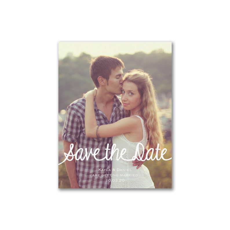 Save The Date Photo Cards Simply Scripted image 0