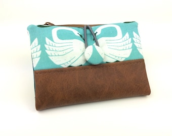 Small wallet Mini-Lovis with faux leather