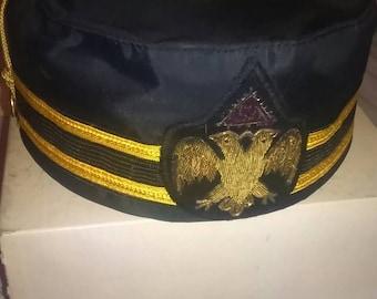 7296caf2ba3 Vintage Masonic Freemason Scottish Rite Hat Double Eagle 32nd Degree