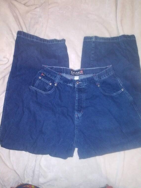 Vintage 90s Kikwear Kik Jeans Wide leg Skater Rave