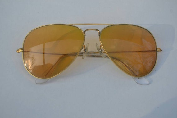 Vintage Ray Ban 58mm Ambermatic Outdoorsman Aviato
